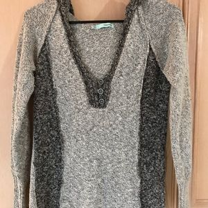 Hooded Grey Sweater